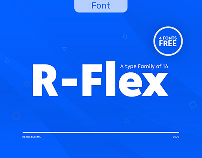 R-Flex Font Family
