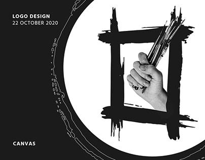 Canvas Logo Design | Paint Art Studio