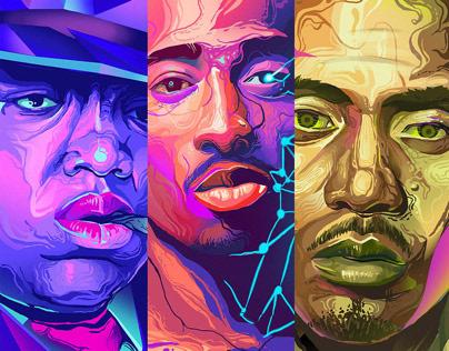 Illustration: Three Legends Of Rap