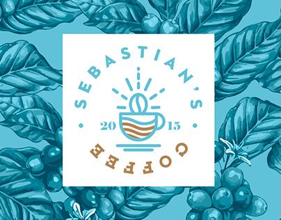 Visual ID Sebastian's Coffee & Menu Design