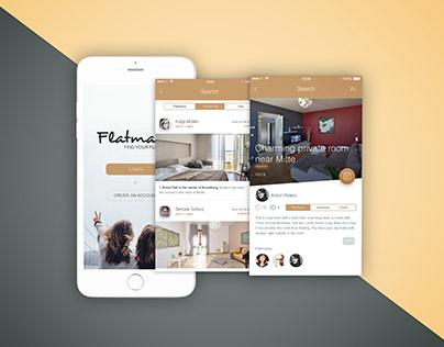 Flatmates - App/UI design