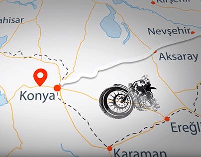 Manager on Roads, Maps Animation