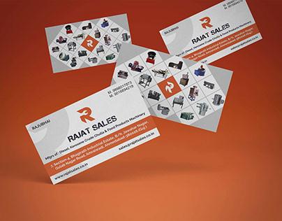Rajat Sales Vising Card Design