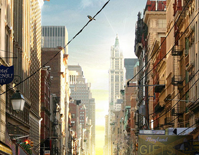 NY TO JAMAICA - Matte painting