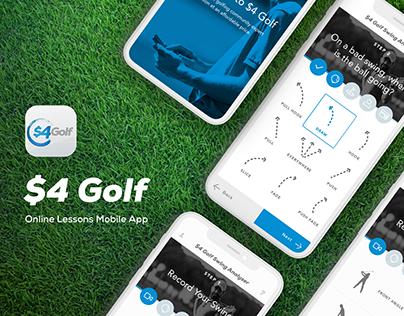 $4 Golf Online Lessons - Mobile App