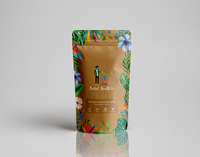 Rooted Health Coffee Bags design pouch packaging