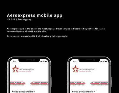 Aeroexpress / mobile app concept