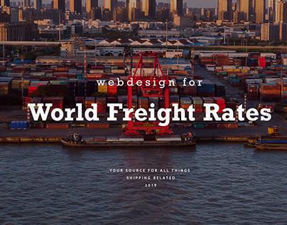 World Freight Rates | Diseño de Website.