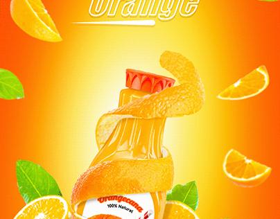 Orange Drink Poster Design