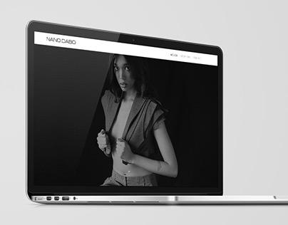Nano Dabo Website // FashionDesigner