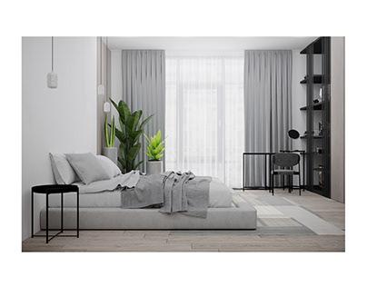 Ascetic bedroom
