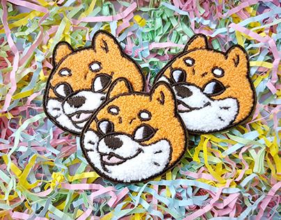 Blep Doggo - Shiba Inu enamel pins and patches