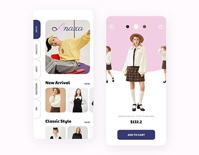 Side-Nav Clothing App