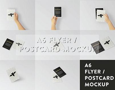 A6 Flyer/Postcard Mockup