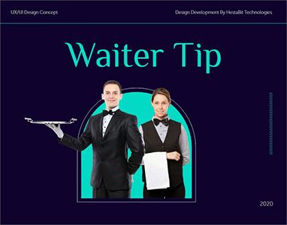 Website Design for Tipping Waiter