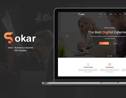 Sokar – Business & Corporate PSD Template