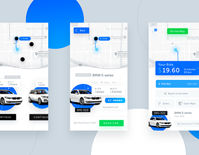 Carsharing Concept UI Motion