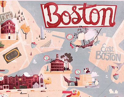 Uber: An Illustrated Map of Boston
