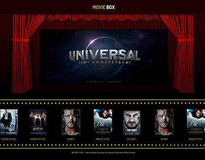 Movie box - trailers website design