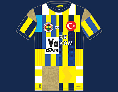 Fenerbahce Kit History, from 1907 to present