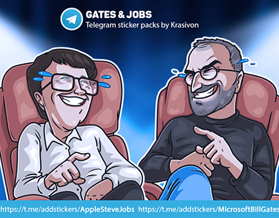 Stickers : Steve Jobs / Bill Gates