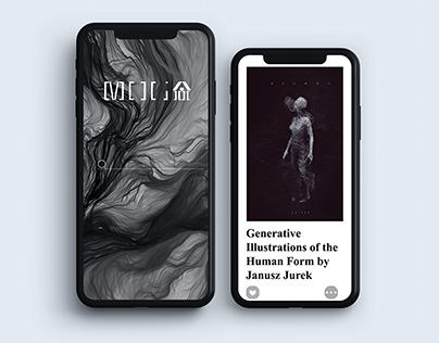 """""""MOGA"""" Oline Museum of Generative Art Website Design"""