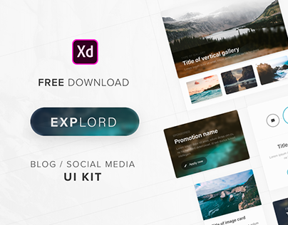 Explord – FREE UI Kit for Adobe XD