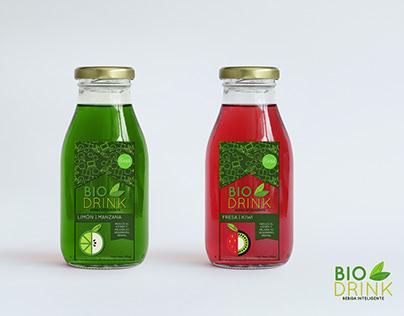 Diseño de Logotipo y etiqueta para BioDrink