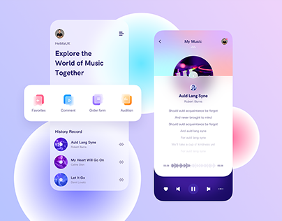 Frosted glass ui design
