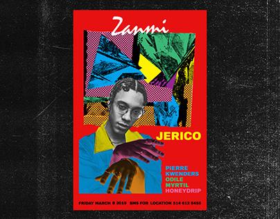 "Jerico 's ""Zanmi"" album launch poster"