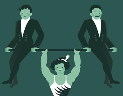 Kate Sandwina, the Strongest Lady Ever: Animation