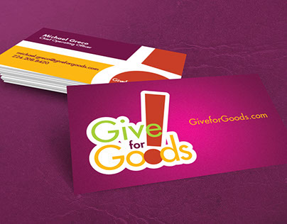 Give for Goods Logo and Business Card Design