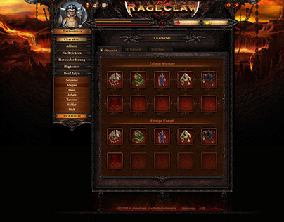 RageClaw - UX / UI Design