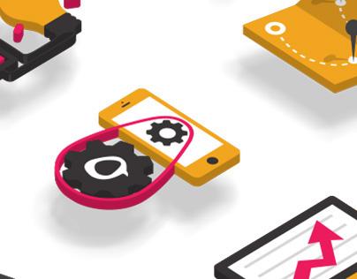 iPublico - Website design, Icons design, Illustration
