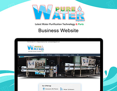PURE WATER BUSINESS WEBSITE