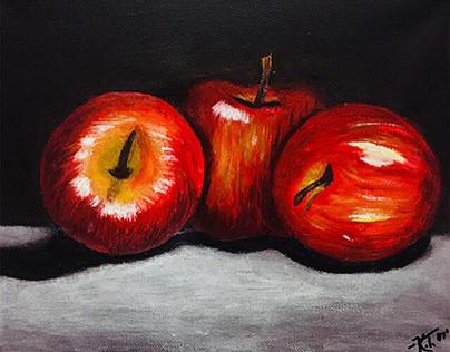 Still Life Painting: Apples