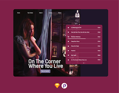 Daily Ui 003- Landing Page for the Paper Kites Album