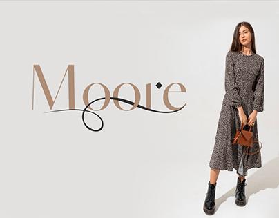 """Логотип магазина женской одежды """"Moore"""""""