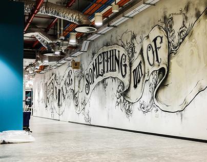 Lettering Mural For Facebook Singapore