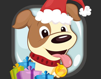 """Puppy In Bubble """"Christmas Fall"""""""