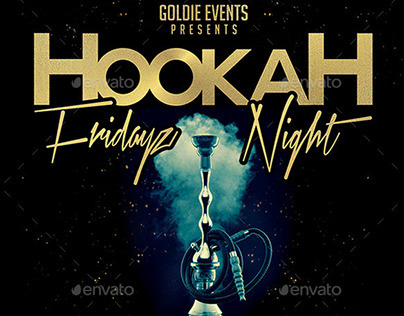 Hookah Fridayz Night | Party PSD Flyer Template