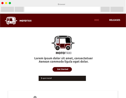Mototaxi Landing Page -UI/UX Design, Visual Design