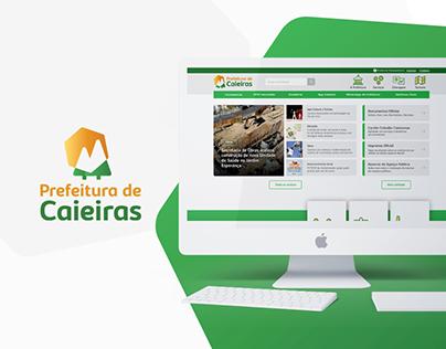 Site Oficial Prefeitura de Caieiras   Ux/Ui Design
