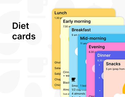 Diet cards