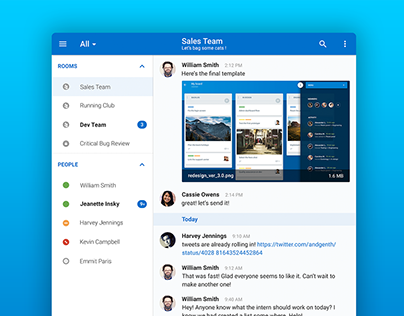 HipChat Tablet App Redesign