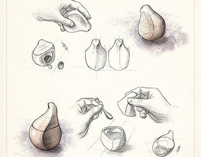 Sketches for AJORÍ