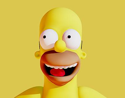 Homer in underwear 3D (Printable)
