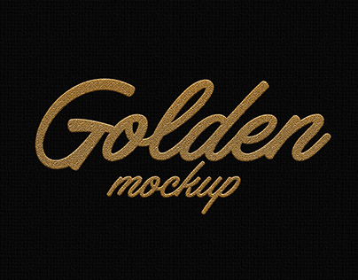 Golden Text Mock-up Free Download