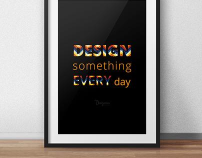 Design Something Poster