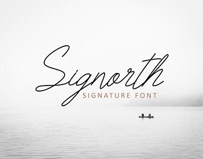 Signorth Signature Font